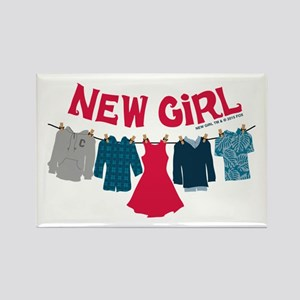 New Girl Laundry Rectangle Magnet